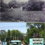 """ภาพแปะฟ้า""""สวนหลวงราชฤดี(ศรีธรรมราชศึกษา)ถึงอนุสาวรีย์วีรไทย"""""""