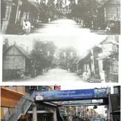 """ภาพแปะฟ้าช่วงถนนราชดำเนิน""""วัดวังตะวันตก-ถึงบริเวณสี่แยกท่าวัง"""" เมืองคอน"""